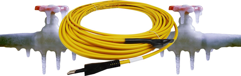 traçage électrique par câble chauffant d'une conduite gelée