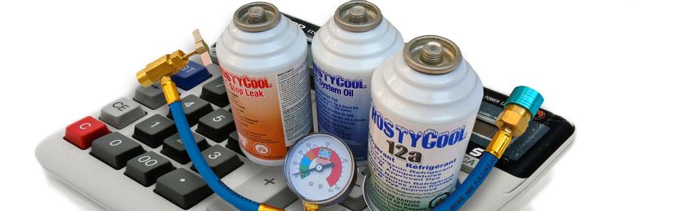 calcul de poids du gaz refrigerant frostycool duracool 12a