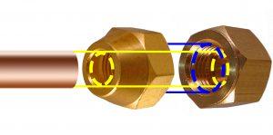 diametre des tubes cuivre et ecrou