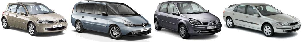 Renault Menage II, Renault Scenic II, Renault Laguna II, Renault Espace IV