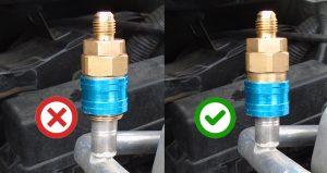 fixation raccord clim voiture basse pression