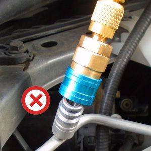 Raccord clim voiture basse pression sur prise haute pression