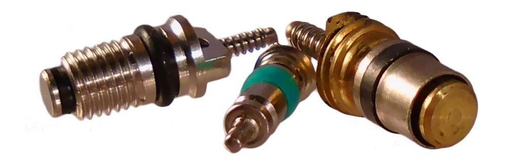 trois modeles d obus de valve